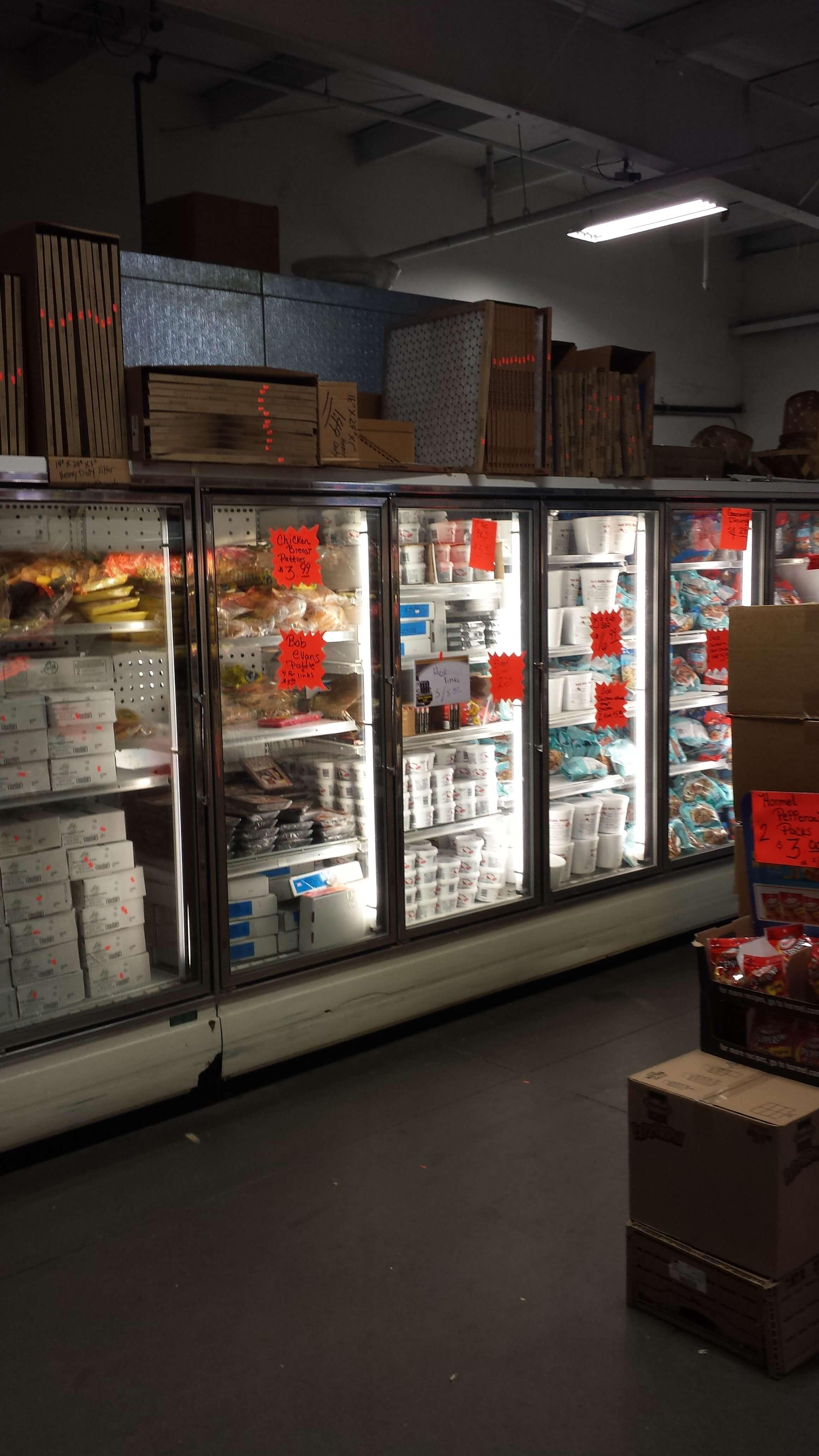 Bargain Food bulk frozen food aisle
