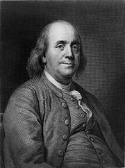 Drawing of Benjamin Franklin