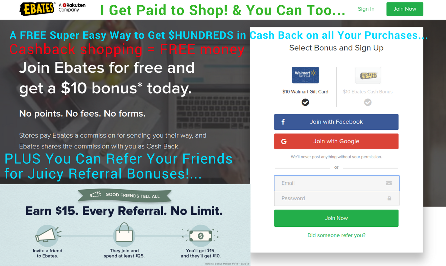 Super easy way to earn cash back on all your purchases with world's number 1 cashback shopping site