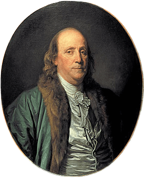 Portrait painting of Benjamin Franklin