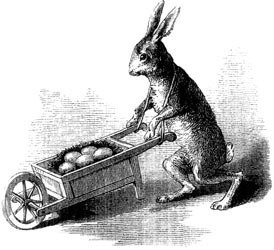 A cart comes in handy for carry those Easter eggs and other market finds.