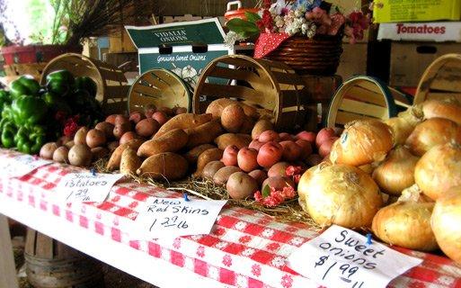 Fresh produce at a Farmers Market.