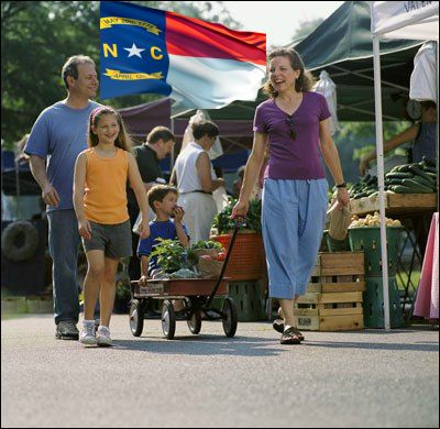 North Carolina farmers market