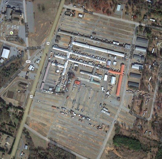 The Anderson Jockey Lot - satellite image