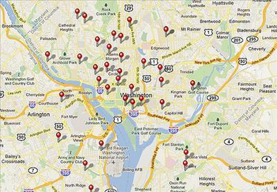 There are approximately 34 More Washington DC Farmers Market Locations - see interactive map in main District of Columbia directory by clicking link at the bottom of this page