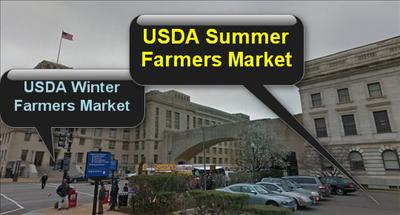 USDA Summer and Winter Farmers Market Locations, Wasington, DC
